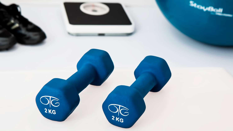 Physiotherapie Utensilien im Training